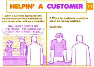 Dunkin' Donuts Customer Service Manual Comic