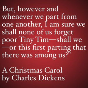 My Favorite Quotes from A Christmas Carol #37 - …this first parting ...