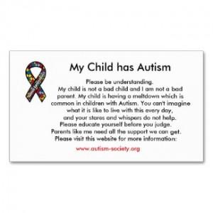 Autism Education Awareness Cards $16.95