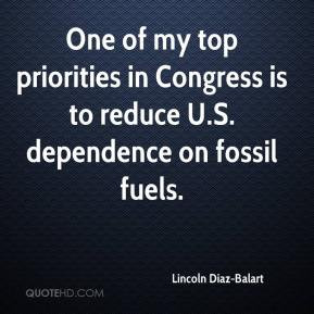 One of my top priorities in Congress is to reduce U.S. dependence on ...