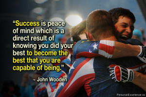 "Inspirational Quote: ""Success is peace of mind which is a direct ..."