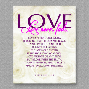 Love Quote Corinthians 13:4-8, White Roses