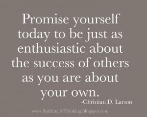 Celebrate Others Successes