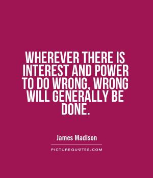 Power Quotes Politics Quotes James Madison Quotes