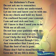 Poem, Dementia Poem, Alzheimers Disea, Poema Alzheimers, Alzeim Quotes ...