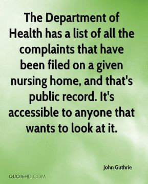 Nursing Home And That Public Record Accessible Anyone
