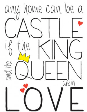 King and Queen in Love Quote Print