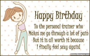 Birthday Wishes for Trainers: Messages for Personal Trainers
