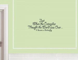 ... THE CATERPILLAR THOUGHT Vinyl wall lettering sayings home decor quotes