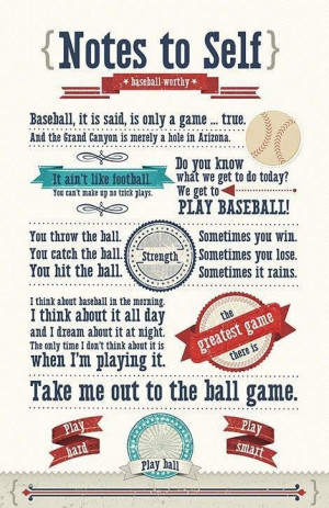 Baseball quotes about life baseball poster chez nous