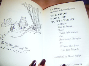 This is a super cute book of quotes. Have a little look =].