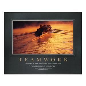 Teamwork Rowers Motivational Poster