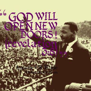 Quotes Picture: god will open new doors ! (revelation 3:8)