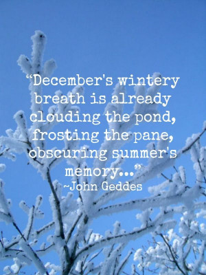 Welcome, December!