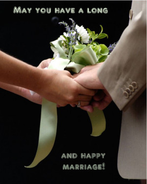 wedding e-card with a message: may all your days will be filled with ...