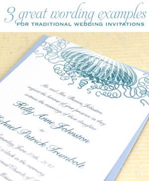 great wording examples for traditional wedding invitations