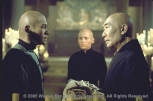 Philip Ahn as Master Khan (on the right)