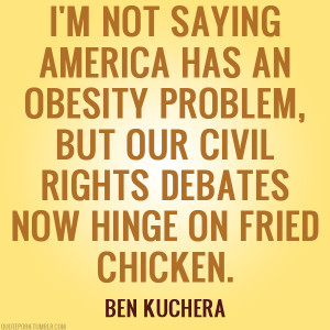 not saying America has an obesity problem…