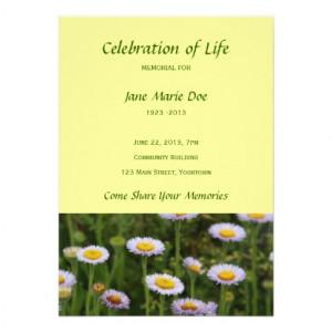 Celebration of Life Memorial Template
