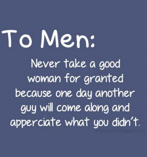 Never Take For Granted