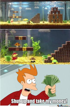 Super Mario Bros Fish Aquarium
