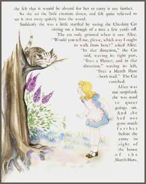 Cheshire Cat & Alice by Willy Schermele