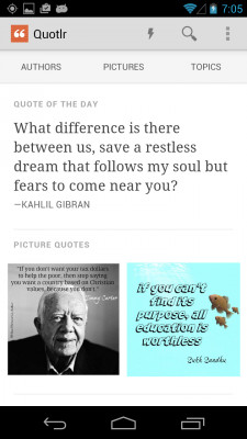 Download Quotlr daily quotes and sayings free for your Android phone