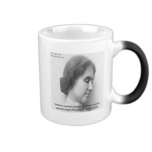 Helen Keller & Famous Deaf/Blind Quote Mug