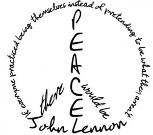 John Lennon peace quote tattoo.
