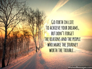 quote about life journey chase your dreams 640x480 Graduation Quotes ...