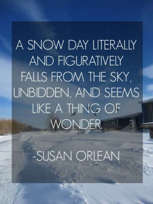 snow day quote susan orlean # quotes