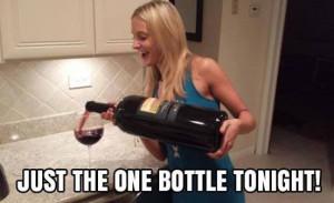 Just one bottle tonight