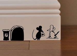 ... -MICE-XMAS-LET-IT-SNOW-MOUSE-SNOWMAN-gift-funny-wall-Kids-Quote-Gift