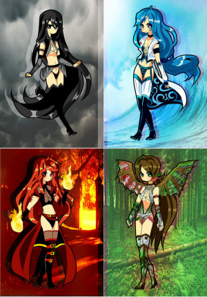 the four elements suirano deviantart