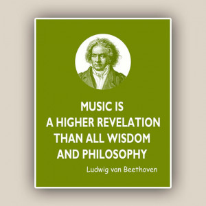... Beethoven quote print, piano music composer, music poster, Quotes and