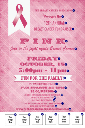 Breast Cancer Awareness Plaid Poster