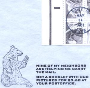 Wildlife booklet pane of ten