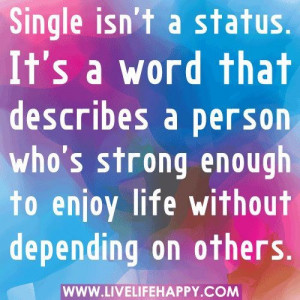 quotes on being single