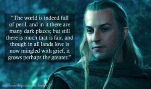 was JUST watching The Two Towers, admiring Haldir's elegance and ...