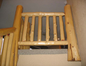Log Cabin Stair Railings