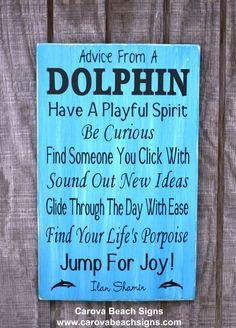 Poem Quotes, Beach Sayings on Wood, Dolphin Decor, Bathroom, Beach ...