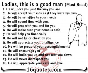ladies this is a good man 1 he will love you just the way you are