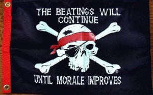 beatings will continue until morale improves