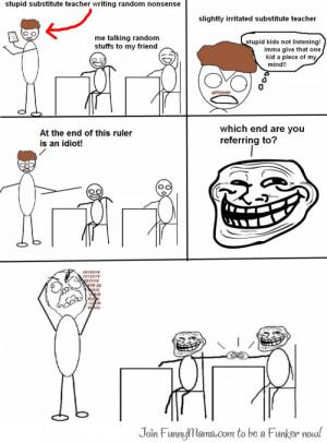 trollface meme substitute teacher