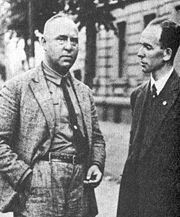 Otto Strasser with his lawyer Roland Freisler - in 1930.