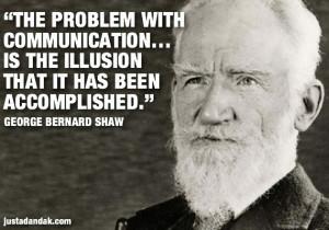 George Bernard Shaw communication quote