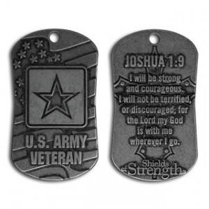 army veteran dog tag necklace