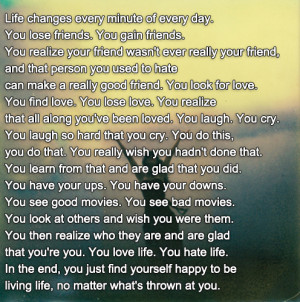 Long Quotes About Life Tumblr Lessons And Love Cover Photos Facebook ...