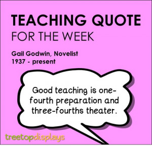 teaching quote from Gail Godwin - provided by Treetop Displays ...