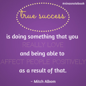 quotable quote on success by Mitch Albom, share with Niña Terol ...